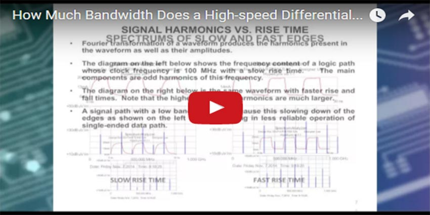 How Much Bandwidth Does A High Speed Differential Pair Require Isola